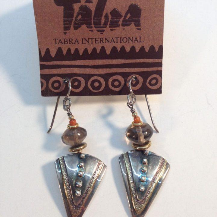 Tabra Int'l Sterling & Copper Handmade Earrings