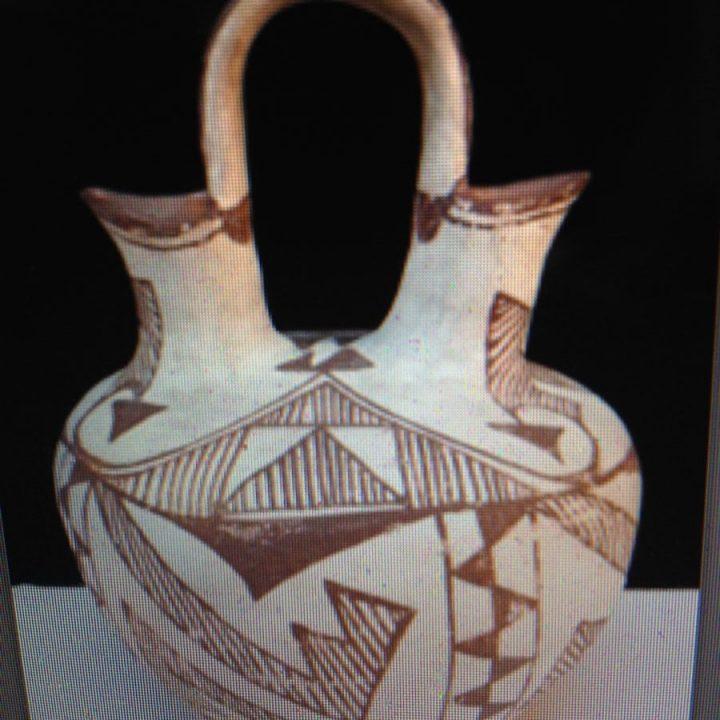 Handmade Navajo Indian Wedding Vase (Starting Bid $1.00)