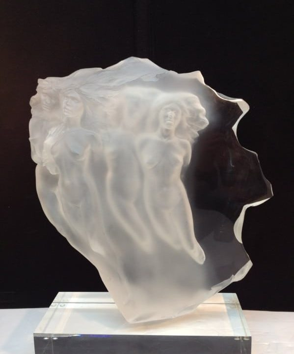 Frederick Hart Acrylic Sculpture 'Light Whispers'$2