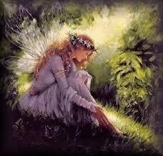 Mary Baxter Fairy Art Framed Serigraph