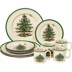 Spode China Christmas Tree Pattern Sets