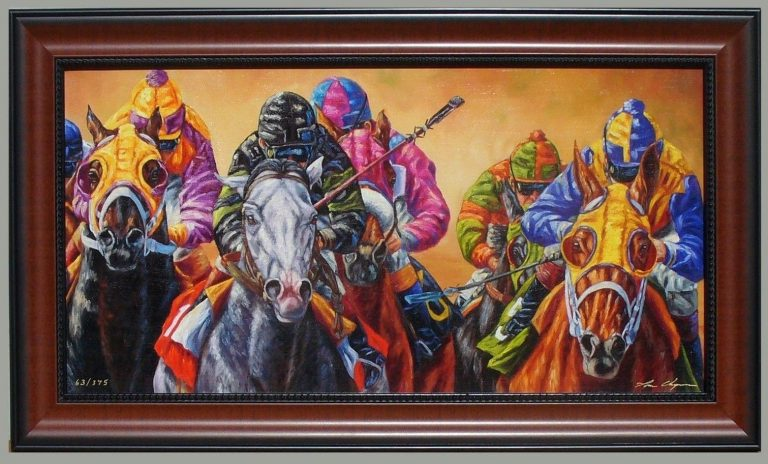 All Dressed Up No Place to Go Horseracing Framed Giclee Print by Tom Chapman