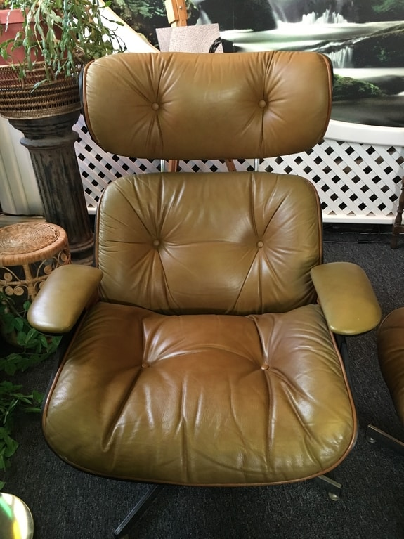 Excellent Vintage Mid Century Selig Eames Leather Lounge Chair Download Free Architecture Designs Scobabritishbridgeorg