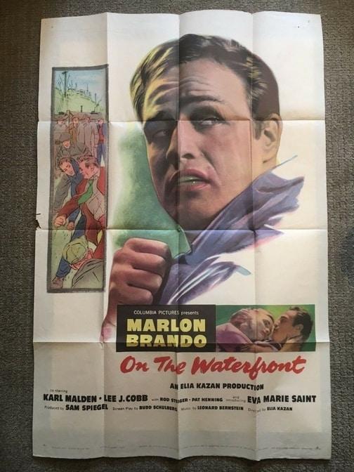Marlon Brando On the Waterfront Poster