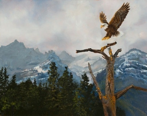virgia-west-eagle-painting
