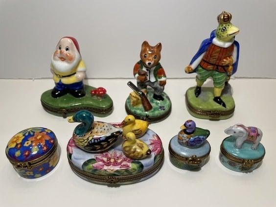Limoges French porcelain trinket boxes