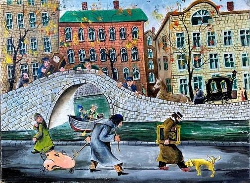 Vladimir Vitkovsky Gogol Surrealism Original Oil Painting Art