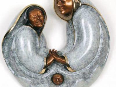 jacques mary regat sunkissed inuit bronze sculpture