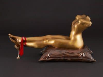 barbara nagel dirty martini bronze sculpture