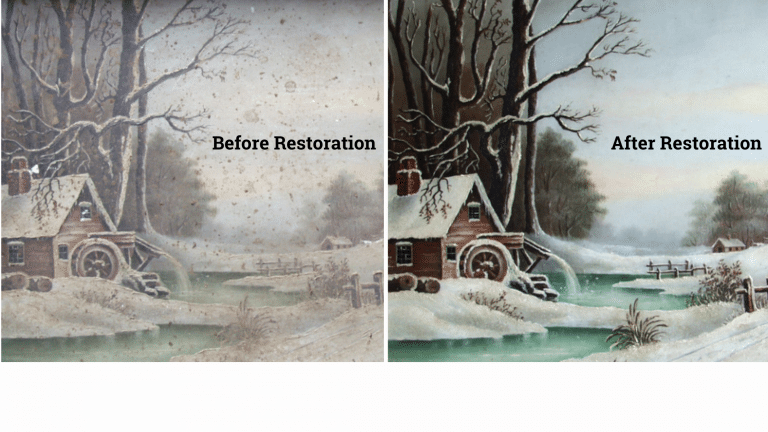 before after painting restoration abbrescia