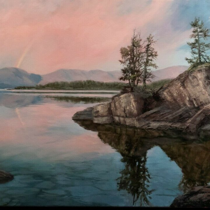 linda glover gooch flathead lake painting