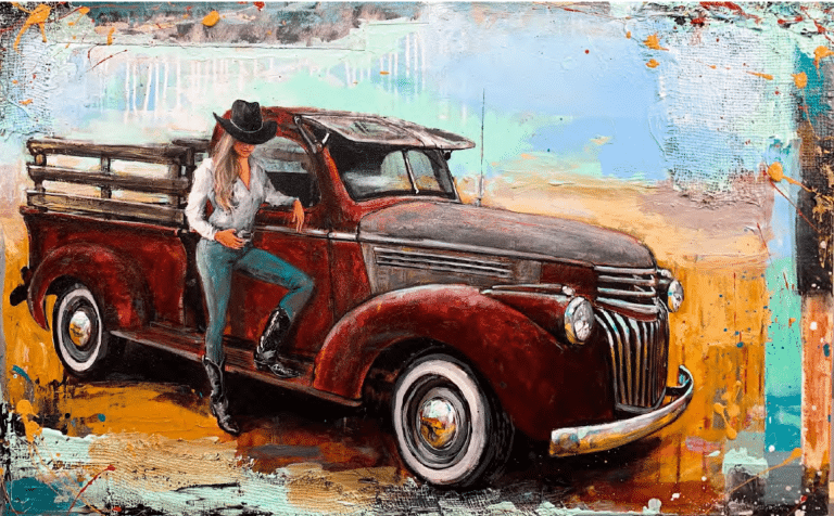 Shawn Mackey chevy girl giclee print