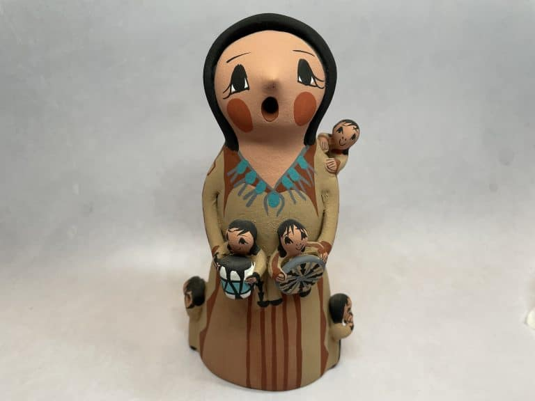 standing girl story teller figurine new mexico