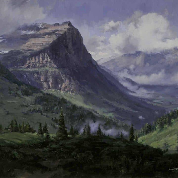 linda glover gooch mount cannon painting glacier park