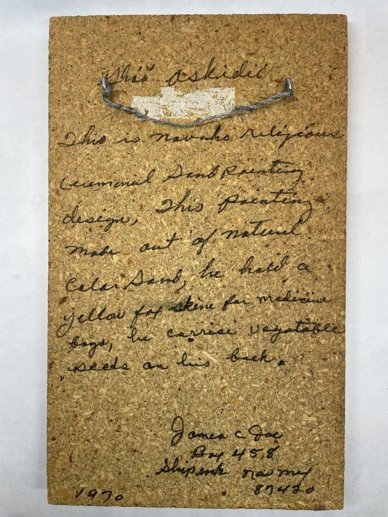 native american sand painting james joe signature