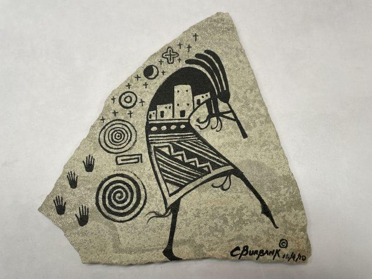 native american sandstone painting kokopelli