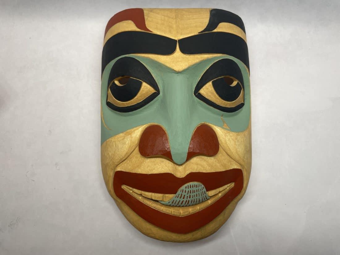 jim heaton wood mask carved alaskan