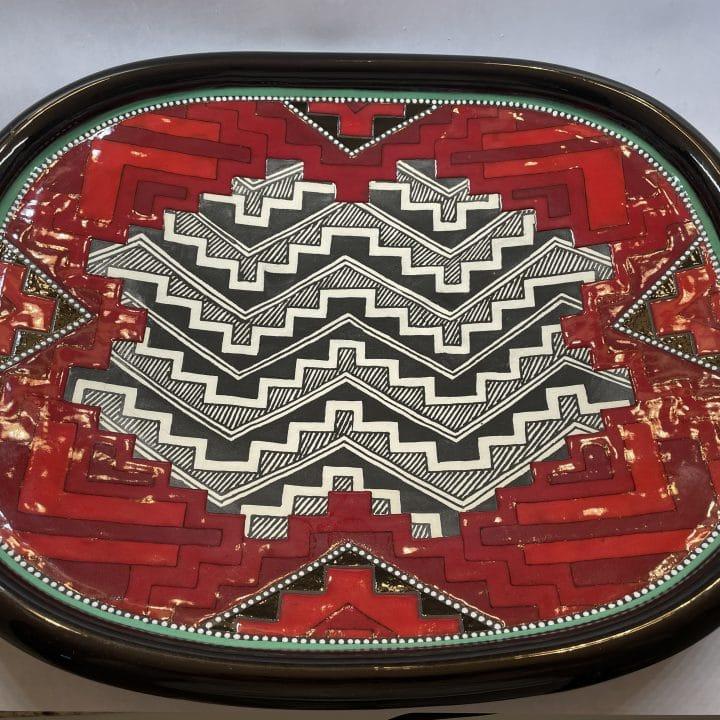 richard-st-john-clay-mesa-pottery-platter