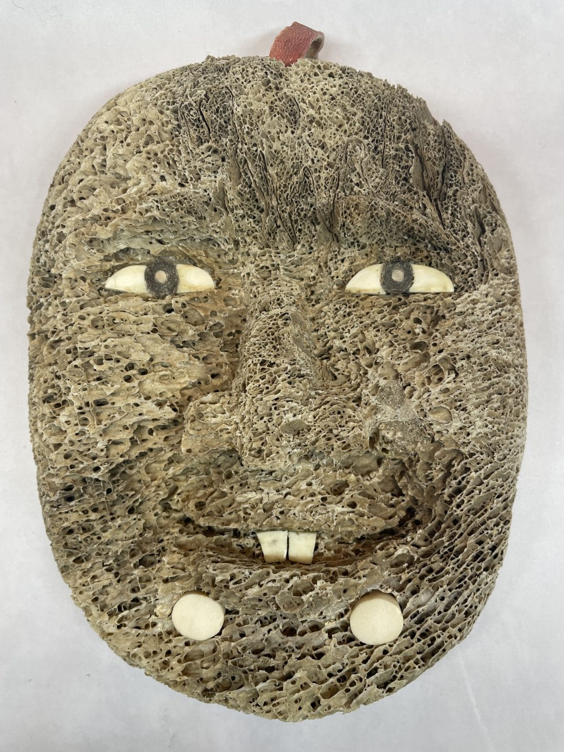 fossilized alaskan bone mask