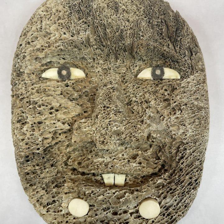 fossilized alaskan bone mask