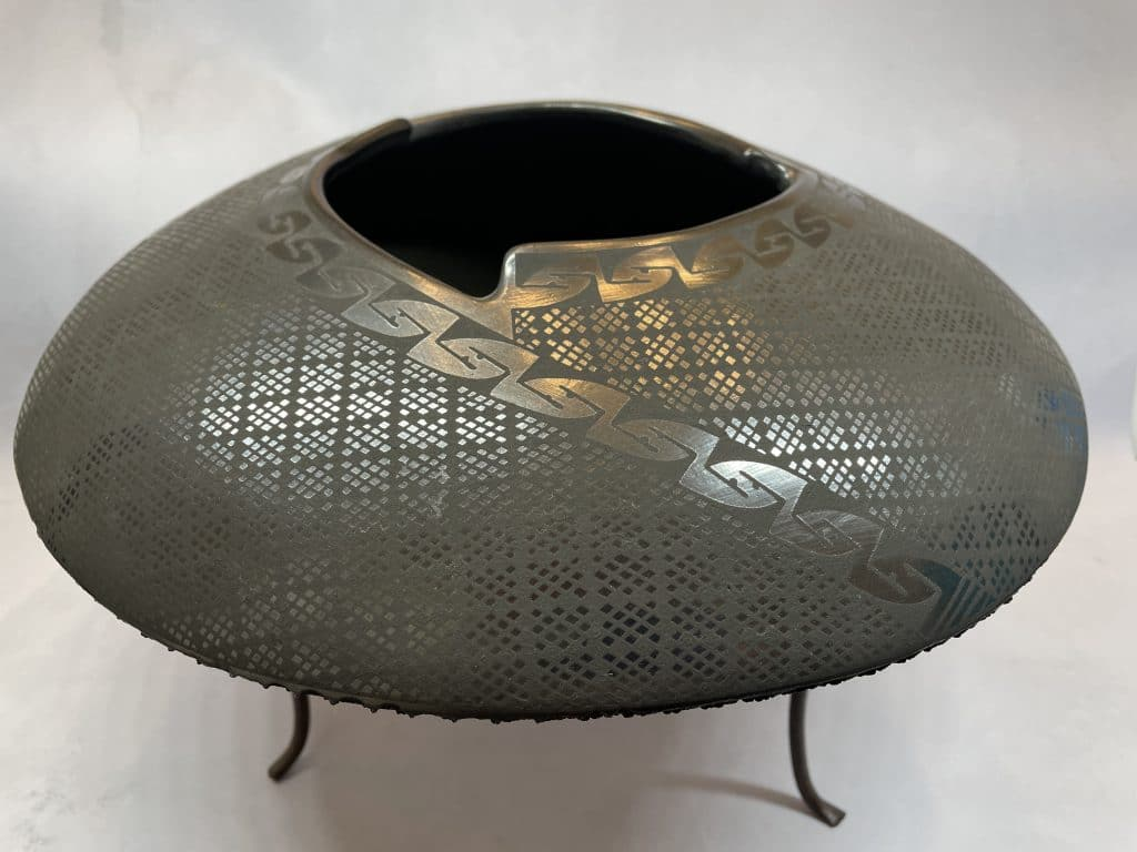Mata Ortiz Burnished Black Clay Pottery By Israel Sandova