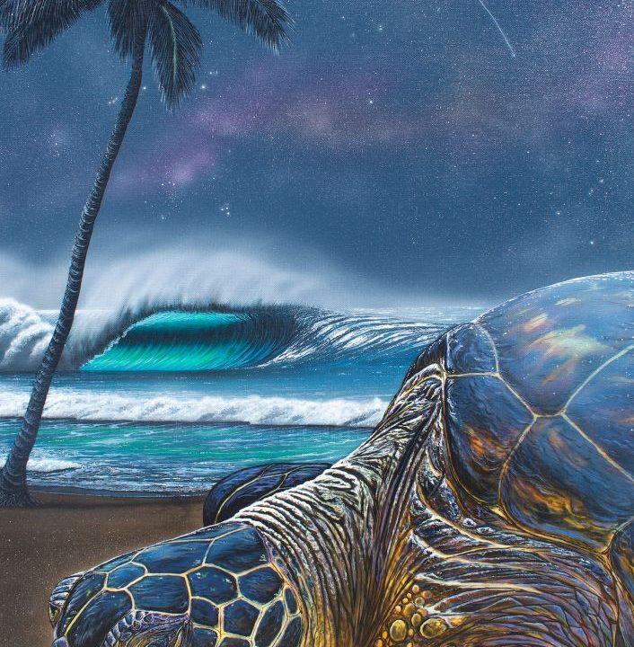 hilton alves making a wish turtle painting