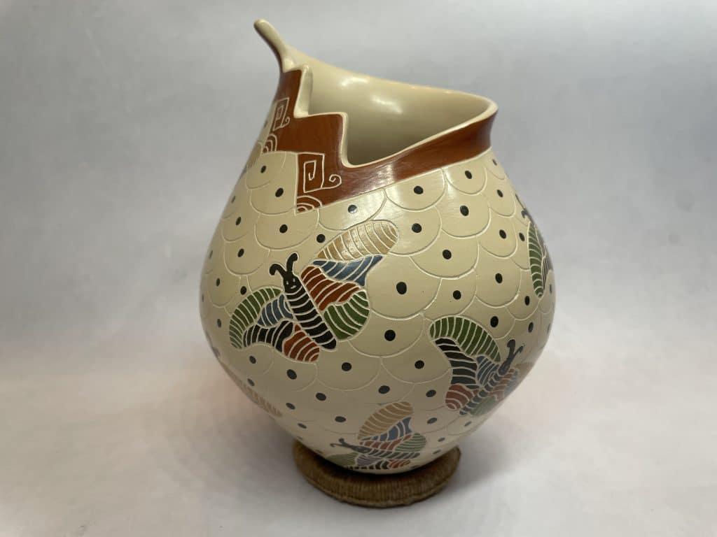 vidal corona pot vessel butterflies