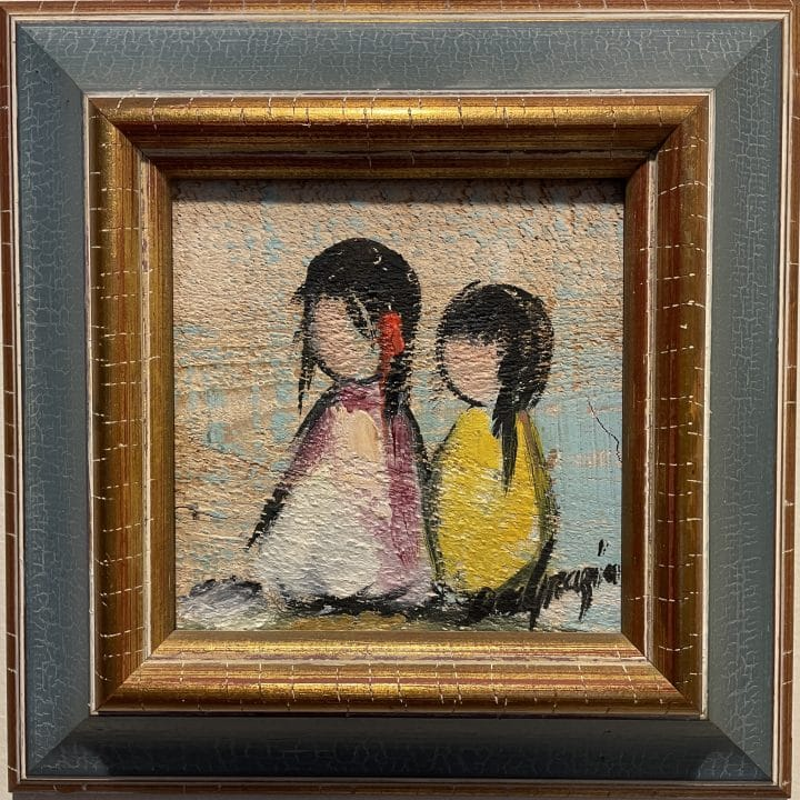 ettore ted degrazia native american painting together