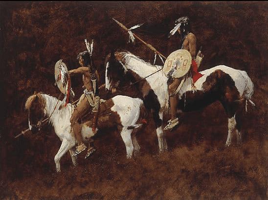 howard terpning paints native american print