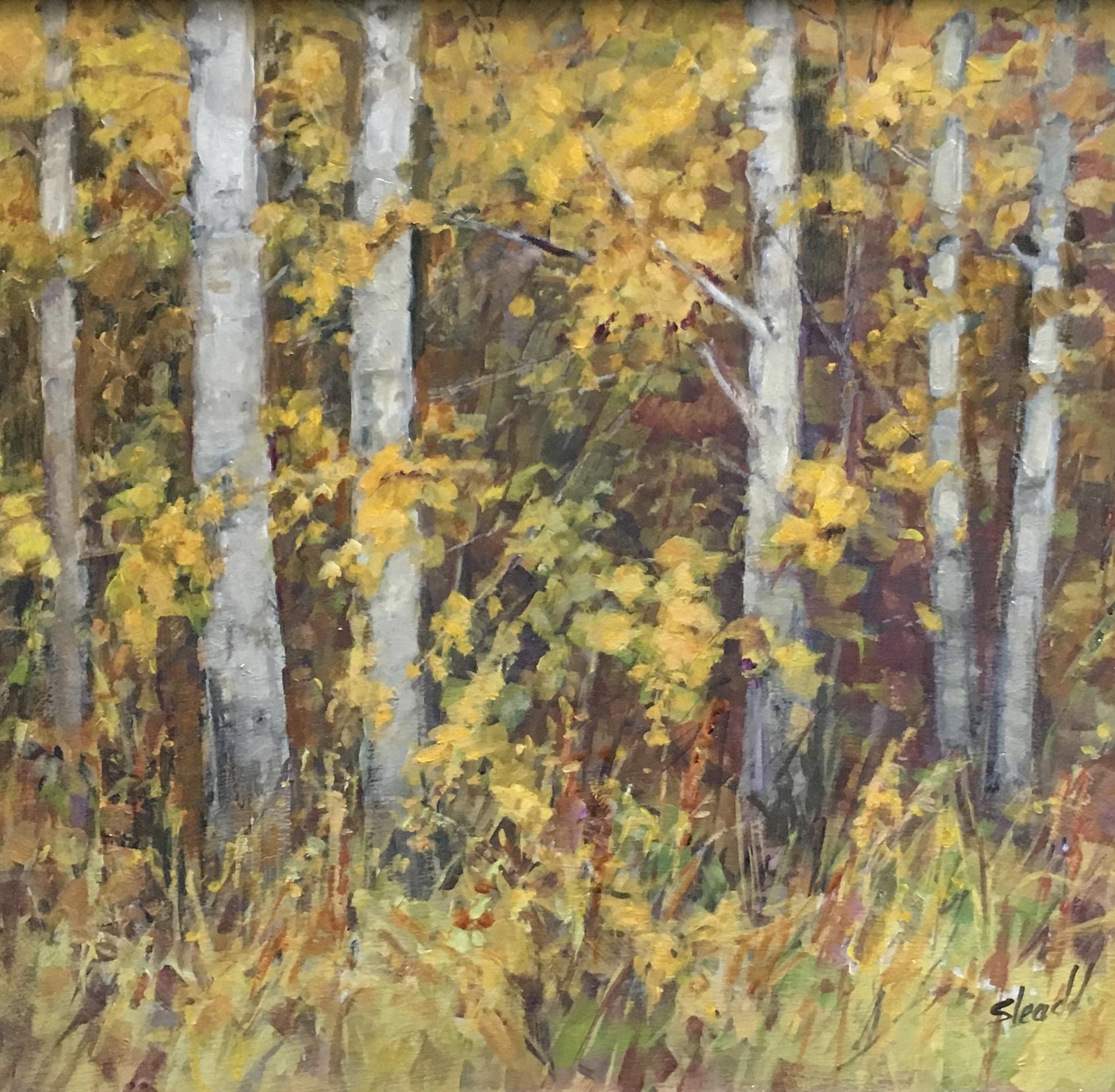 joanne sleadd birch tree painting