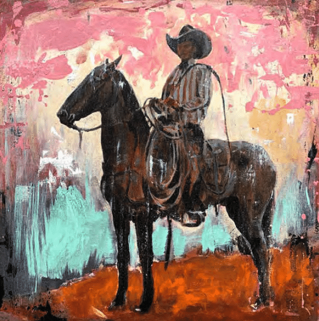 shawn mackey gaucho horse acrylic painting