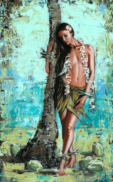 shawn mackey palm wahine girl palm tree print