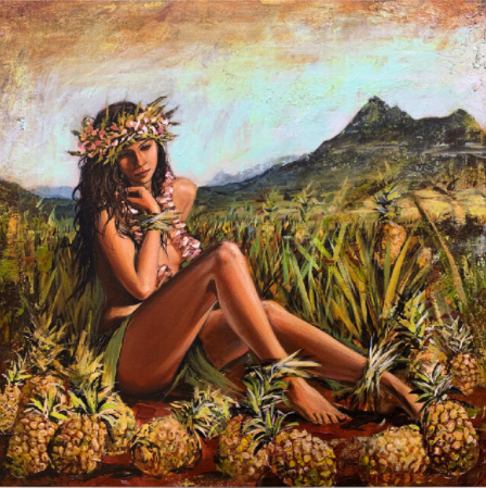 shawn mackey pineapple express hawaiian girl print