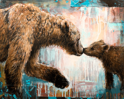 shawn mackey tenderness grizzly bears western print