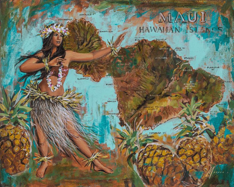 shawn mackey valley isle hawaii map hawaii hula girl