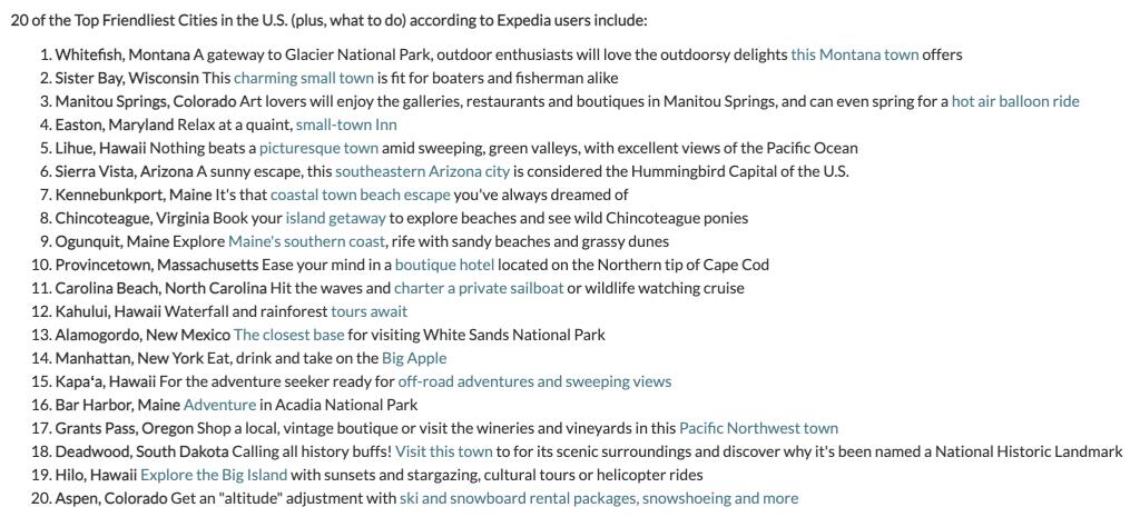 top 20 friendliest cities in us Expedia travel