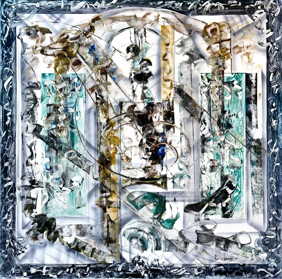 vladimir vitkovsky heaven original abstract art painting