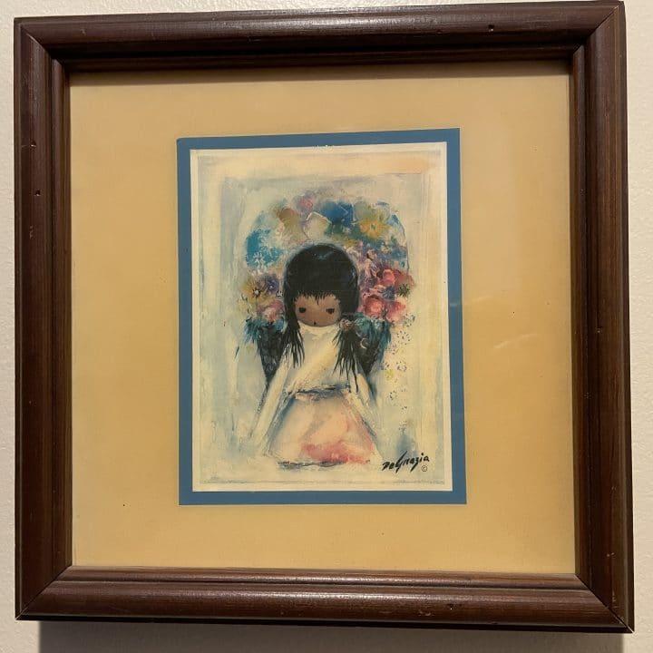 ted degrazia print of flower girl on tile