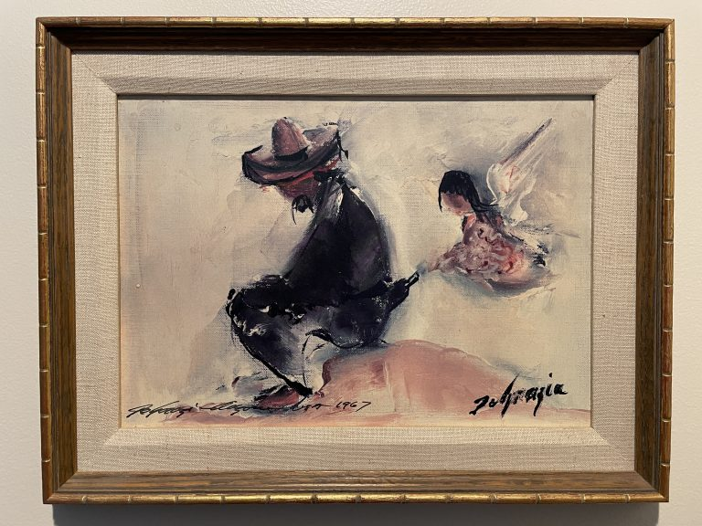 ted degrazia signed print one for the road angel