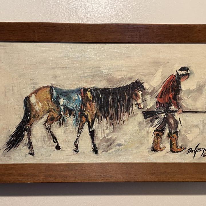 ted degrazia lost apache native american print