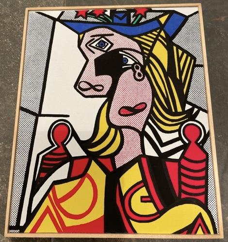 richard-pettibone-roy-lichtenstein-woman-flowered-hat-acrylic