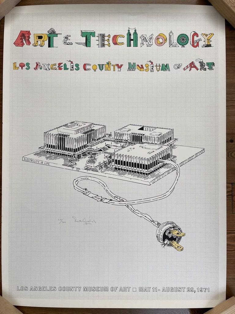William Crutchfield Art Technology Pop Art Print 1971