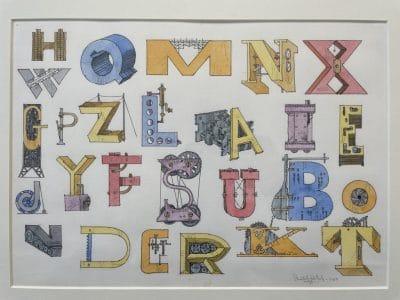 William Crutchfield Art Pop Art Print Letters Tools