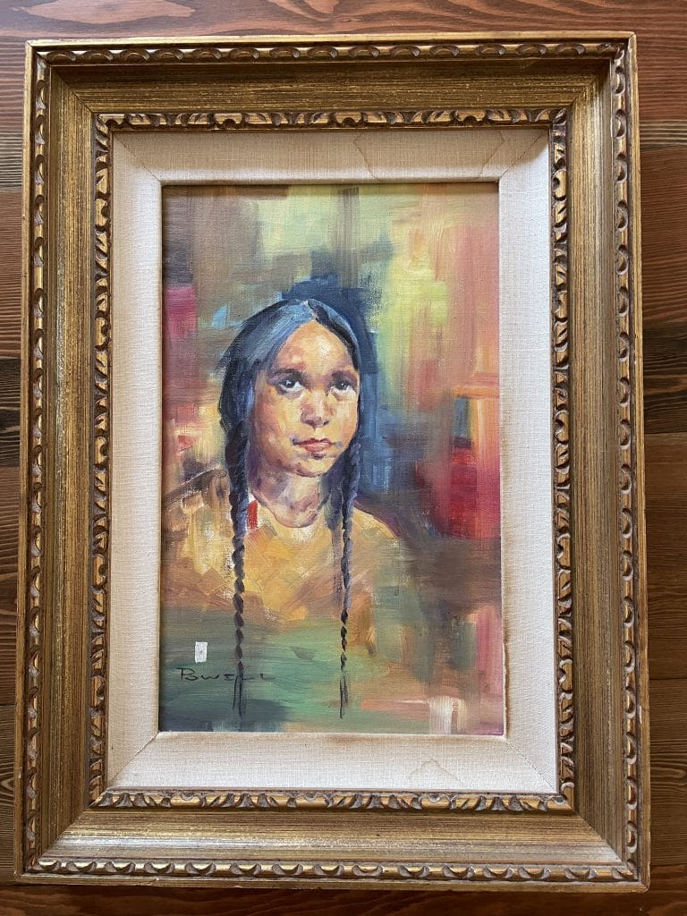 ace powell native american girl painting