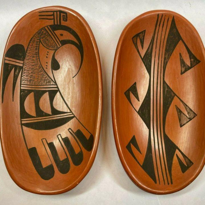 Hopi pottery polychrome plates