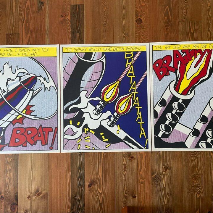 Lichtenstein pop art prints